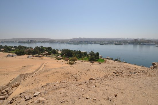 View over the harbor, Qubbet el-Hawa, Tombs of the Nobles, Aswan May 2013