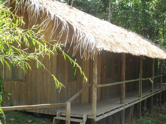 Dolphin Lodge: Varanda dos quartos com vista para o rio.