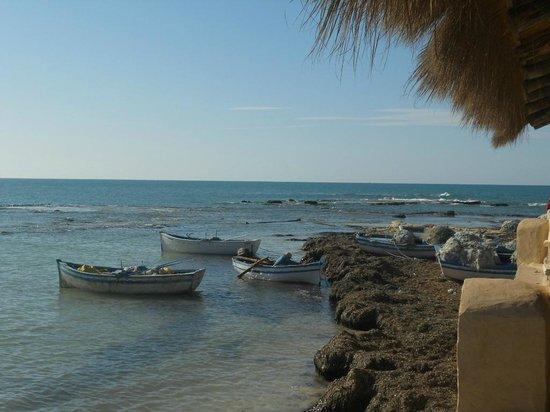 Club Marmara Narjess: Barques de pêcheurs en bout de plage