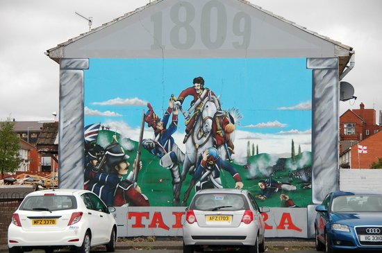 Battle of the boyne mural picture of belfast mural tours for Belfast mural tours