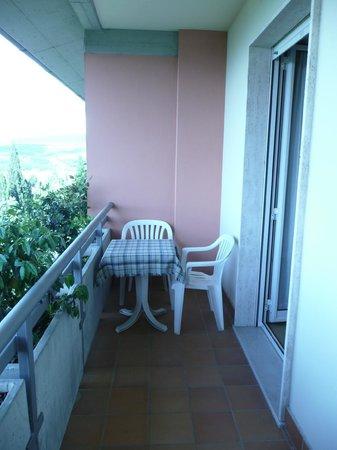 Hotel Tuder: The balcony of room 257