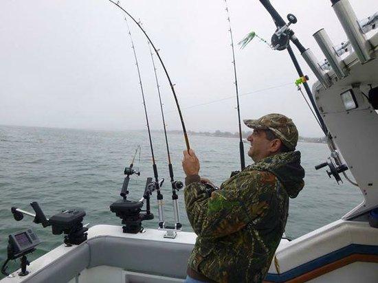 Charter fishing Lake Ontario: Reeling in a Brown