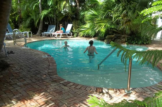 Angelina Guest House: steps into pool - up to 5' deep at far end