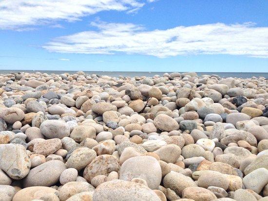 Montauk Point Lighthouse: Pebbly beach