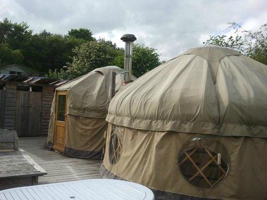 Offas Dyke Yurts : External view