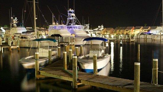 Treasure Cay Beach, Marina & Golf Resort: Marina at night