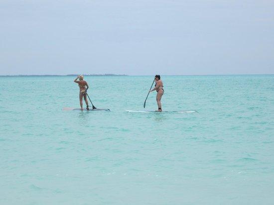 Treasure Cay Beach, Marina & Golf Resort: Paddleboarding in paradise