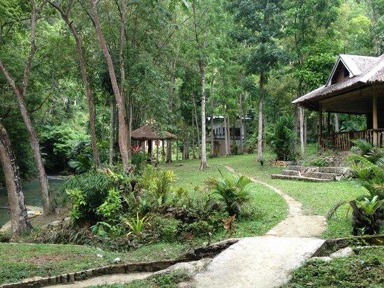 The walk up towards Kawansan falls (not the blue orchid resort)