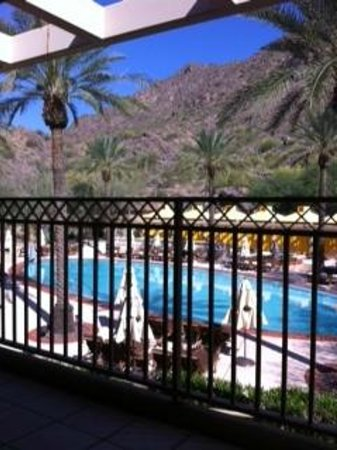 The Canyon Suites at The Phoenician: The view from our second floor one bedroom suite at the Canyon Suites