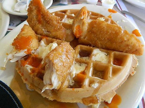 Ram's Horn Restaurant: CHICKEN AND WAFFLES