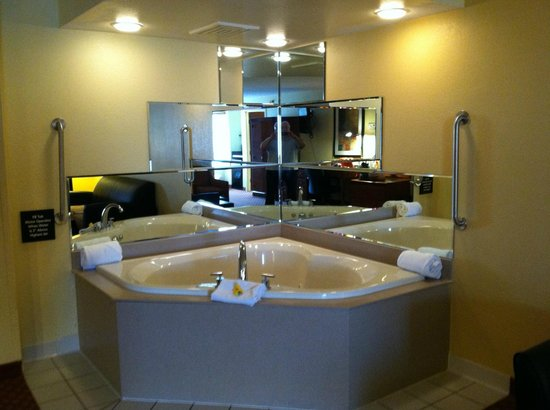 Hampton Inn Lacrosse Onalaska: Heart-shaped jacuzzi