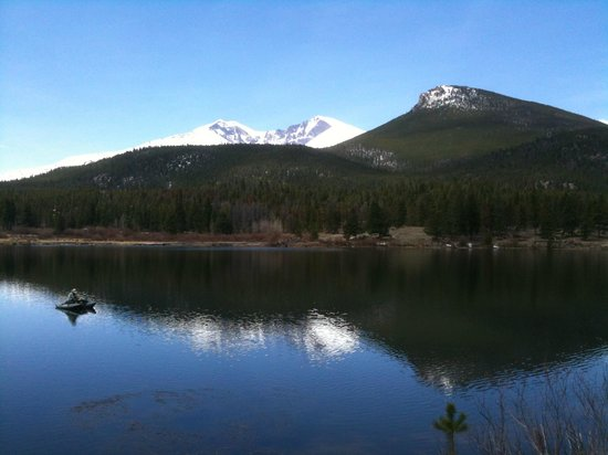 Hotel Estes: Lily Lake and Longs Peak, short drive south from Estes Park