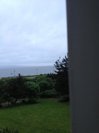 Galway Bay Hotel: view of the bay from our window on the side of the building