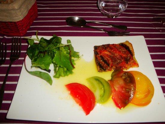La Bastide Rose: Heirlooms tomato course! Yum...so fresh!