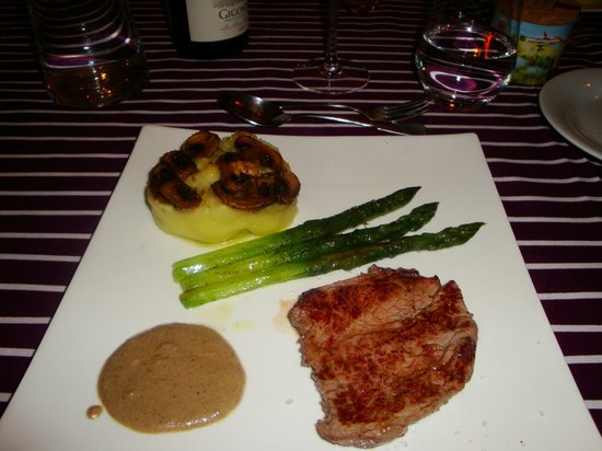 La Bastide Rose : One of our courses...delicious food!