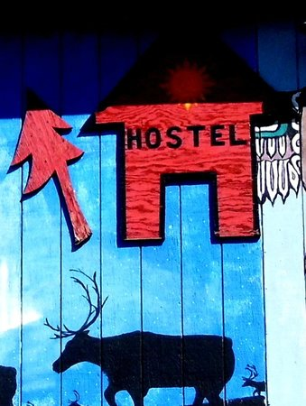 Spenard Hostel International : Hostel sign