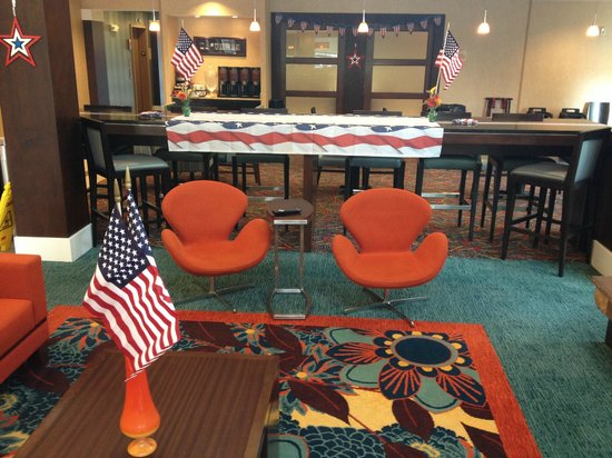 Residence Inn Columbus: Setup for Army bday BBQ cooked by the General Manager