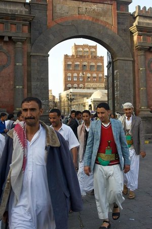 Sanaa, Jemen: Bab al-Yemen: doorway to the eternity..