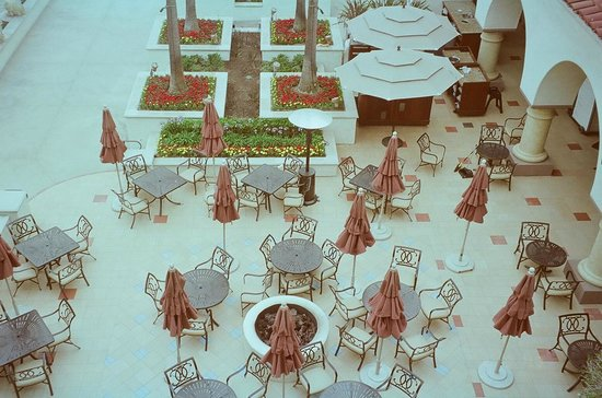 The Californian: The outside tables; inside is more elegant