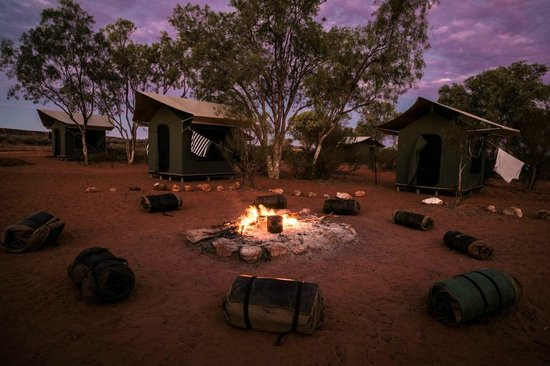 Alice Springs, Avustralya: Kings Creek station Classic 4WD Campsite at dusk