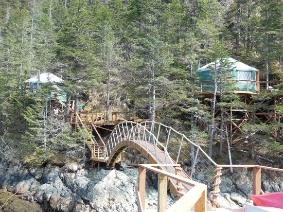 Orca Island Cabins: Bridge to and from the island
