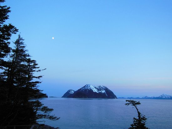 Orca Island Cabins: Midnight view