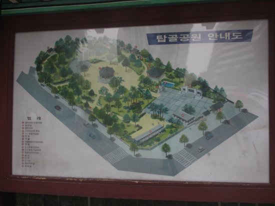 Tapgol Park: Map of the park