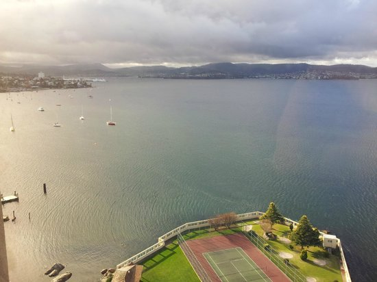 view from room over sandy bay picture of wrest point. Black Bedroom Furniture Sets. Home Design Ideas