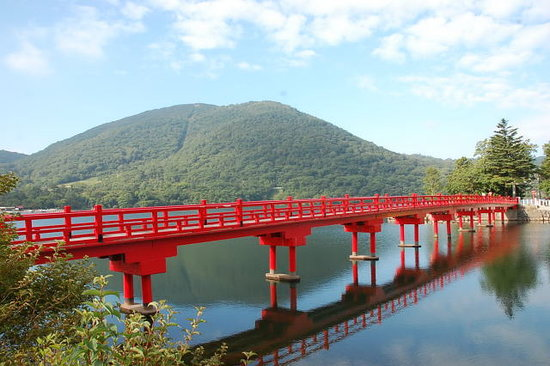 Maebashi, Japan: 小鳥ヶ島・赤城神社へ渡る神橋