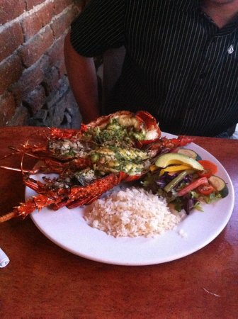 Fonda El Zaguan: Whole lobster for $25? Can you believe it!?