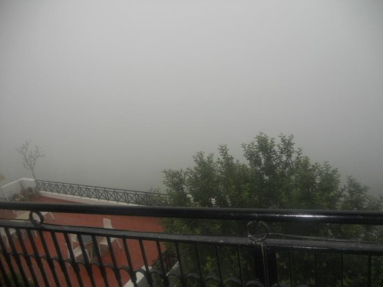 Krish Rauni: foggy weather view from room