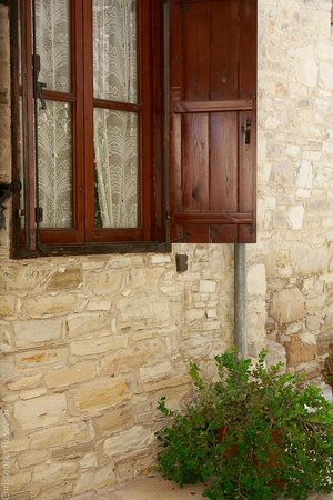 Traditional Village Houses: Shuttered windows for cool and warm