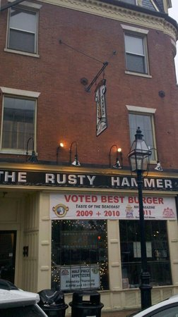 The Rusty Hammer: The banner that attracted us!