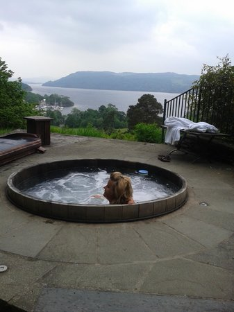 The Samling Hotel: A hot tub with a view