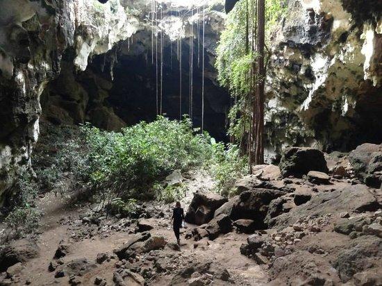 Maxcanu, Meksika: Ingang van de grotten