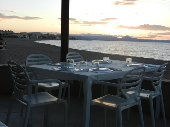 Noguera Mar Hotel: supper on the terrace