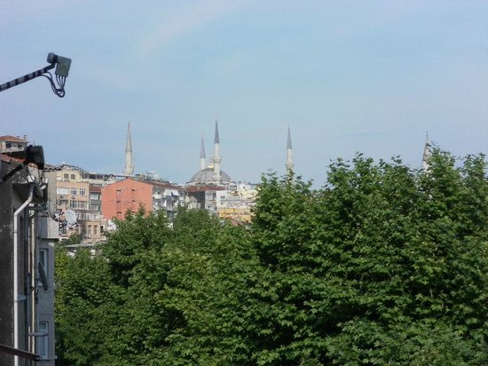 Ottoman Hotel Park: Aussicht von der Restaurantterasse