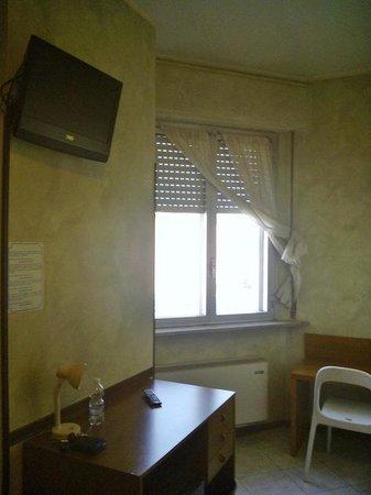 Hotel Daina: Panorama su capannone e Tenaris Dalmine