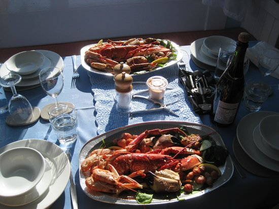 Cala Sith Guest House : Seafood platter at Cala Sith