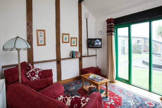 Treworgie Barton: Lounge area in Chappell