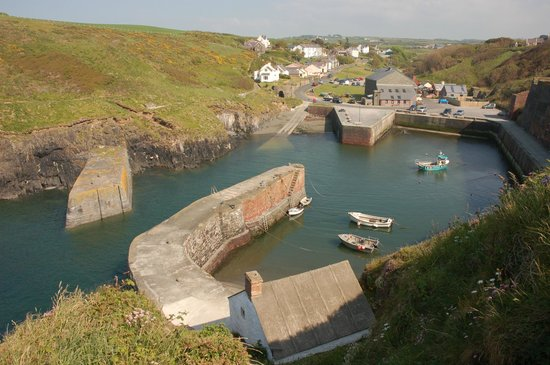 Porthgain Harbour: Porthgain from the cliff top