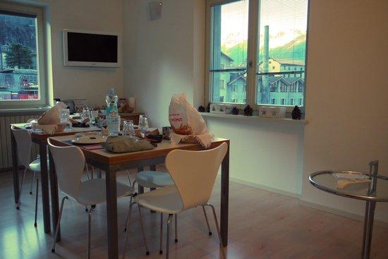 B&B Al Ponte : Frühstück mit Blick auf Chiavenna