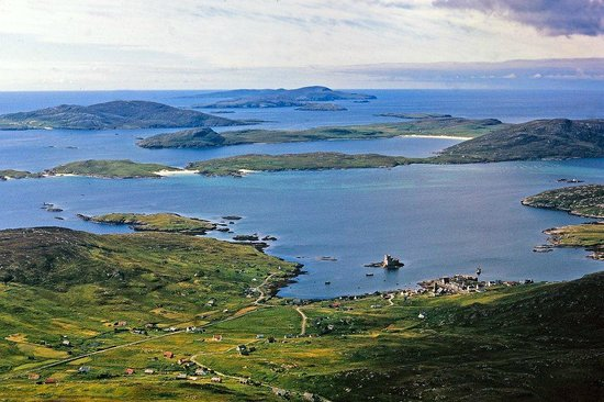 Isle of Barra, UK: Castlebay From Heaval