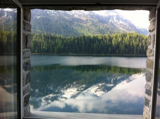 Hotel Waldhaus Am See: zimmerausicht am Morgen