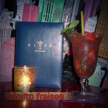 Flute Bar : strawberry  mojito