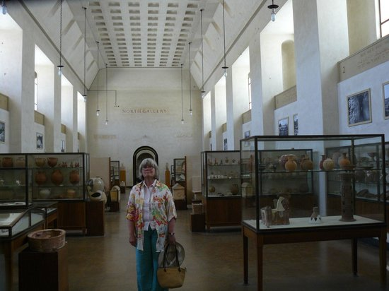 Rockefeller Archeological Museum: Judy in the cavernous north gallery.