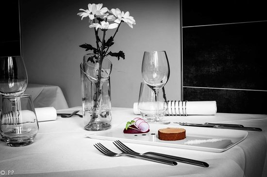 restaurant l'Argousier : Foie gras au cacao et condiment de betterave au miel