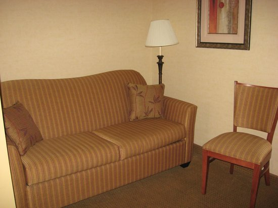 Quality Hotel & Suites At the Falls: couch and chair, pullout
