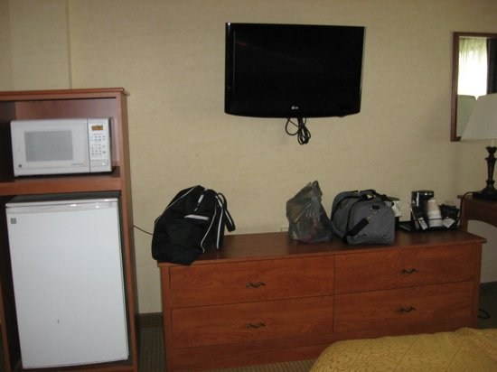 Quality Hotel & Suites At the Falls: fridge and microwave