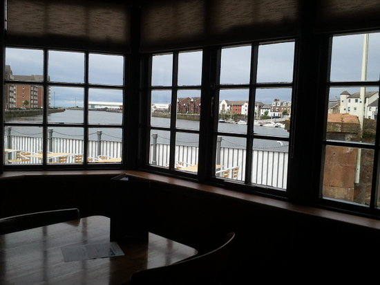 View from the bar - The Waterfront, Ayr Harbour